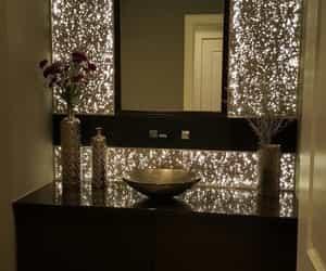 bathroom, dramatic, and shiny image