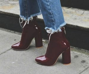 90s, booties, and dark red image