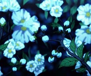anime, flowers, and fauna image
