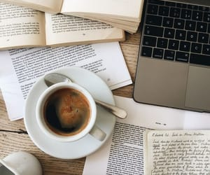 coffee, book, and study image