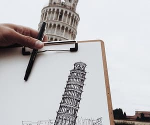 art, drawing, and italy image