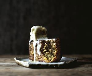cake, honey, and dessert image