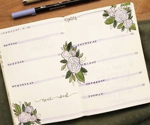 organization, study, and bullet journal image