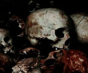 dark, skull, and theme image
