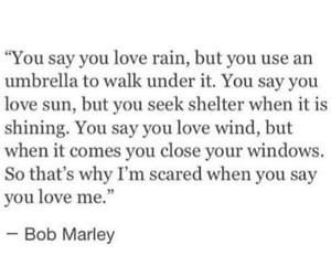 bob marley, love, and lonely image
