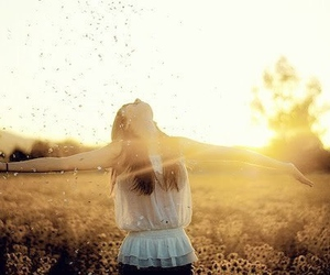 girl, sun, and outdoors image