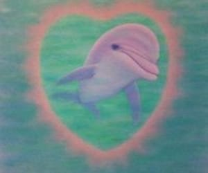 dolphin, pastel, and animal image