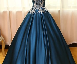 dress and high neck prom dress image