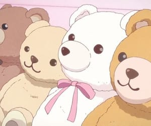 anime, bear, and aesthetic image