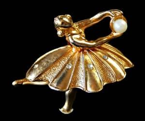 gold jewelry, rhinestone jewelry, and ballet jewelry image