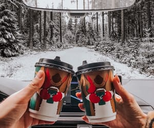 coffee, couple, and drink image