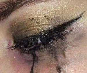 crying, eyeliner, and tv image