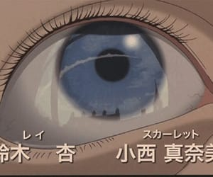 anime, eye, and blue image