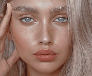 blonde, glitter, and fashion image