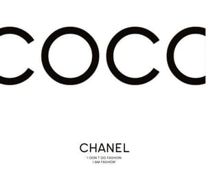 background, black and white, and coco chanel image