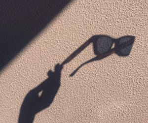 shadow, summer, and sunglasses image
