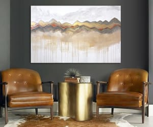 Abstract Painting, gallery wall, and art image