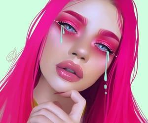 art, digital, and makeup image
