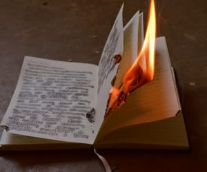 fire, book, and diary image