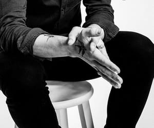 black and white, details, and hands image