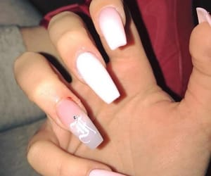 bling, pink, and coffin nails image