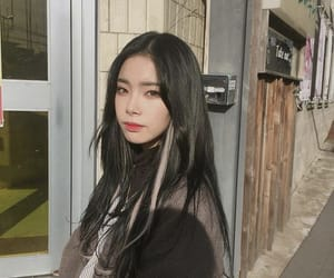 aesthetic, asian girl, and hair image