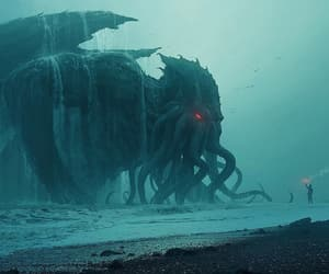 monster, scary, and tide image