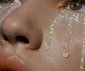 aesthetic, glitter, and eyes image