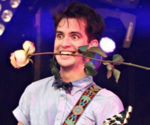 brendon urie, panic! at the disco, and rose image
