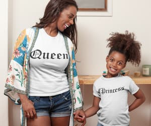 queen shirt, mommy and me shirts, and bosslady miniboss image
