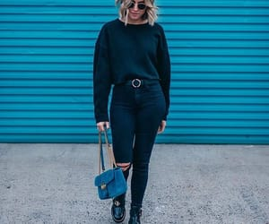 boots, fashion, and all in black image