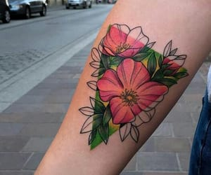 aesthetic, arm, and flowers image