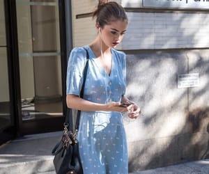 selena gomez, dress, and fashion image
