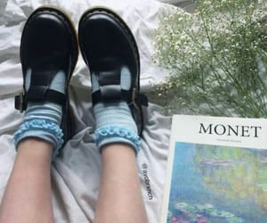 flowers, monet, and shoes image