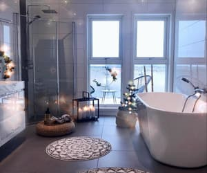 home, bathroom, and candles image