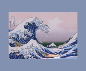 kanagawa, light blue, and wallpaper image