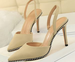 shoes, women shoes, and beige shoes image