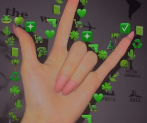 aesthetic, girl, and green image