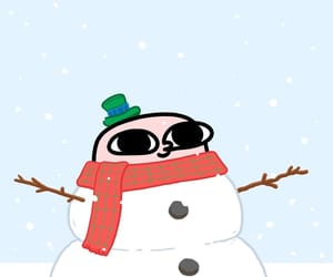 christmas, wallpaper, and snow man image