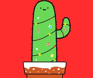 cactus, christmas, and red image