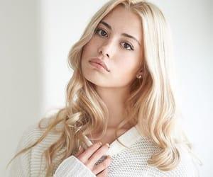 girl, light hair, and hair image