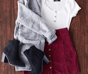outfit, style, and red image