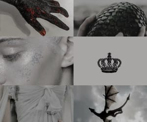 Collage, mother of dragons, and game of thrones image