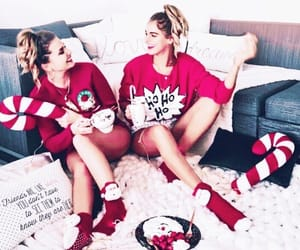 best friends, christmas, and fashion image