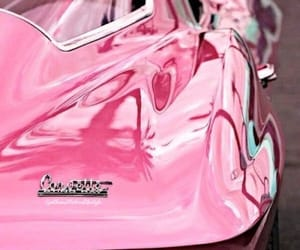 pink, car, and Corvette image