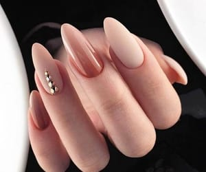 nails, beige, and fashion image