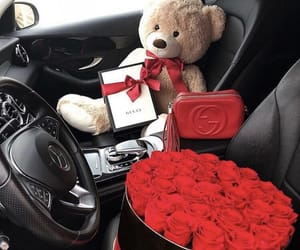 roses, flowers, and car image