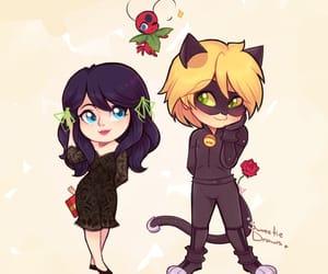 Chat Noir, couple, and fanart image