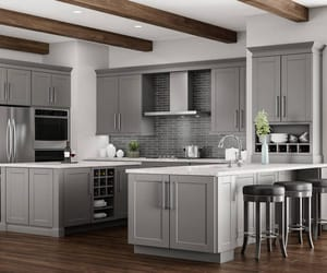 gray kitchen cabinets and gray cabinets image