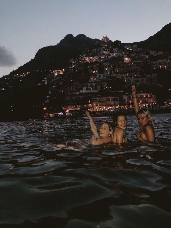 night, girls, and summer image